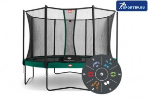 Батут Berg Champion 430 Tattoo + Safety Net Comfort 430 Артикул: 35.44.06.00